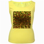 abstract_formula_wallpaper-387800 Women s Yellow Tank Top