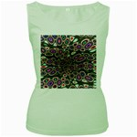 abstract_formula_wallpaper-387800 Women s Green Tank Top