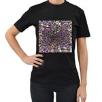 abstract_formula_wallpaper-387800 Women s Black T-Shirt