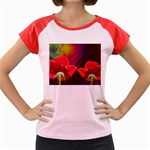 2_Shiny_Roses-77215 Women s Cap Sleeve T-Shirt