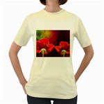 2_Shiny_Roses-77215 Women s Yellow T-Shirt
