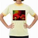 2_Shiny_Roses-77215 Women s Fitted Ringer T-Shirt