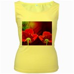 2_Shiny_Roses-77215 Women s Yellow Tank Top
