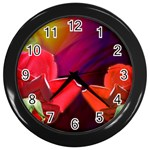 2_Shiny_Roses-77215 Wall Clock (Black)