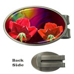 2_Shiny_Roses-77215 Money Clip (Oval)