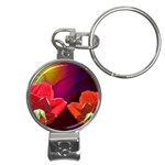 2_Shiny_Roses-77215 Nail Clippers Key Chain