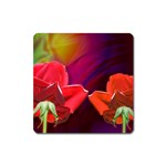 2_Shiny_Roses-77215 Magnet (Square)