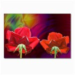 2_Shiny_Roses-77215 Postcards 5  x 7  (Pkg of 10)