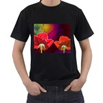 2_Shiny_Roses-77215 Black T-Shirt (Two Sides)