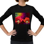 2_Shiny_Roses-77215 Women s Long Sleeve Dark T-Shirt