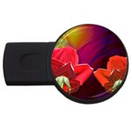 2_Shiny_Roses-77215 USB Flash Drive Round (4 GB)