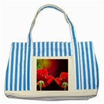 2_Shiny_Roses-77215 Striped Blue Tote Bag