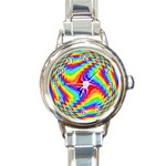 Disco-Party-Style-413640 Round Italian Charm Watch