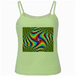 Disco-Party-Style-413640 Green Spaghetti Tank