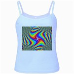 Disco-Party-Style-413640 Baby Blue Spaghetti Tank