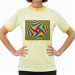 Disco-Party-Style-413640 Women s Fitted Ringer T-Shirt