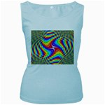 Disco-Party-Style-413640 Women s Baby Blue Tank Top