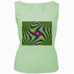 Disco-Party-Style-413640 Women s Green Tank Top