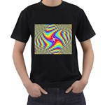 Disco-Party-Style-413640 Black T-Shirt (Two Sides)