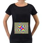 Disco-Party-Style-413640 Maternity Black T-Shirt