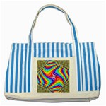 Disco-Party-Style-413640 Striped Blue Tote Bag