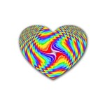Disco-Party-Style-413640 Rubber Coaster (Heart)