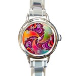 Cool_Fractal-818879 Round Italian Charm Watch