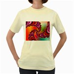 Cool_Fractal-818879 Women s Yellow T-Shirt