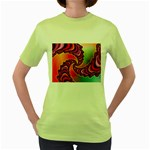 Cool_Fractal-818879 Women s Green T-Shirt