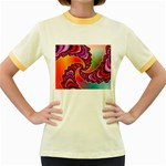 Cool_Fractal-818879 Women s Fitted Ringer T-Shirt