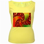 Cool_Fractal-818879 Women s Yellow Tank Top