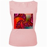 Cool_Fractal-818879 Women s Pink Tank Top