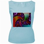 Cool_Fractal-818879 Women s Baby Blue Tank Top