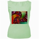 Cool_Fractal-818879 Women s Green Tank Top