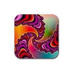 Cool_Fractal-818879 Rubber Square Coaster (4 pack)