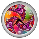 Cool_Fractal-818879 Wall Clock (Silver)