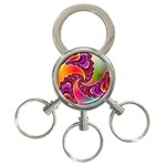 Cool_Fractal-818879 3-Ring Key Chain