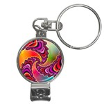 Cool_Fractal-818879 Nail Clippers Key Chain