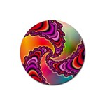Cool_Fractal-818879 Rubber Round Coaster (4 pack)
