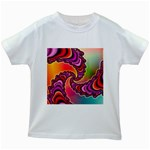 Cool_Fractal-818879 Kids White T-Shirt