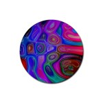 space-colors-2-988212 Rubber Round Coaster (4 pack)