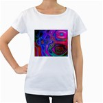 space-colors-2-988212 Maternity White T-Shirt
