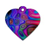 space-colors-2-988212 Dog Tag Heart (One Side)