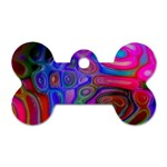 space-colors-2-988212 Dog Tag Bone (Two Sides)