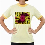 sonic_yellow_wallpaper-120357 Women s Fitted Ringer T-Shirt