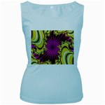 sonic_yellow_wallpaper-120357 Women s Baby Blue Tank Top