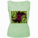 sonic_yellow_wallpaper-120357 Women s Green Tank Top