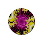 sonic_yellow_wallpaper-120357 Rubber Round Coaster (4 pack)