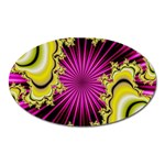 sonic_yellow_wallpaper-120357 Magnet (Oval)