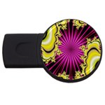 sonic_yellow_wallpaper-120357 USB Flash Drive Round (1 GB)